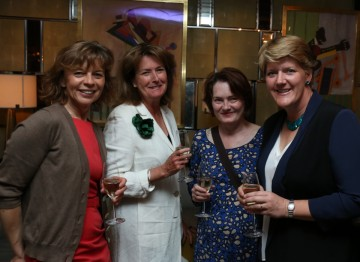 Clare Balding invited a guest list of friends and colleagues to celebrate the occasion.