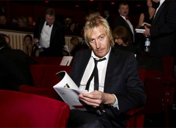 Actor and Award presenter Rhys Ifans waits for the ceremony to begin (pic: BAFTA / Camera Press).