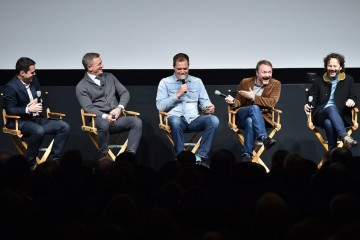 Dave Karger, Daniel Craig, Michael Shannon, Rian Johnson and Ram Bergman