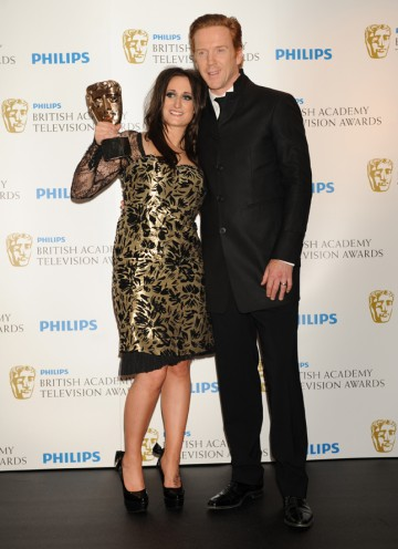 Damian Lewis presented Lauren Socha with the Supporting Actress BAFTA for her role as Kelly in E4 comedy drama Misfits. (Pic: BAFTA/Richard Kendal)