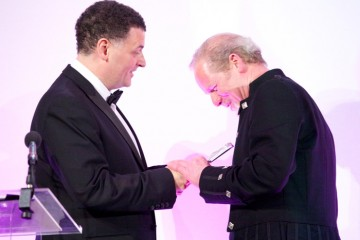 Steven Moffat and Peter Mullan