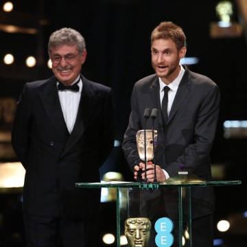 The Wild Tales team accept the award for Film Not in the English Language at the 2016 EE British Academy Film Awards
