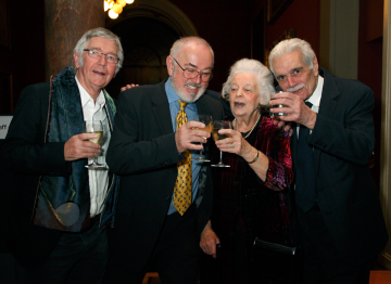 Sir Tom Courtenay, Peter Egan, Phyllis Dalton and Omar Sharif.