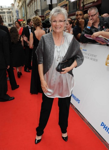 Leading Actress BAFTA nominee Julie Walters arrives at the London Palladium (BAFTA/Richard Kendal).
