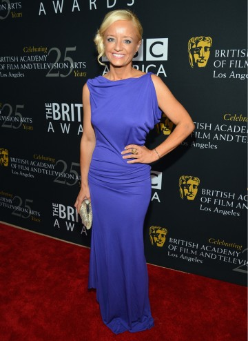 Lucy Davis, star of The Office, was there to support her fellow British actors.