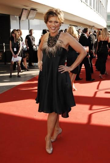 Breakfast presenter Kate Silverton graced the red carpet in a La Perla dress and Louboutin shoes (BAFTA / Richard Kendal).