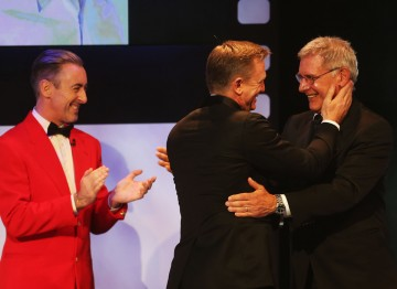 Alan Cumming,  Daniel Craig  and Harrison Ford at the Britannia Awards.