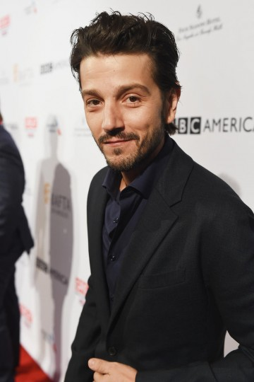 Actor Diego Luna from Rogue One: A Star Wars Story attends the 2017 BAFTA Tea
