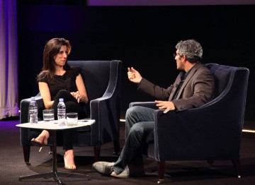 Aline Brosh Mckenna dicusses the craft of screenwriting for film with Jason Solomons. (Photography: Jay Brooks)