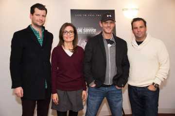 Moderator Luke Parker Bowles, Producer Sarah Aubrey, Director Peter Berg and Producer Randall Emmett