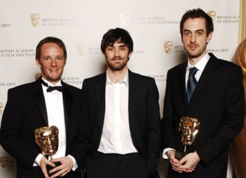 James Snowden and Nick Fry received the Sound Factual award for Ross Kemp In Afghanistan from actor Matthew McNulty (BAFTA / Richard Kendal).
