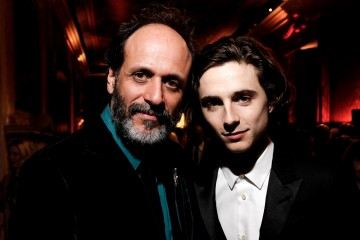 Luca Guadagnino & Timothée Chalamet at the BAFTA Nespresso Nominees' Party