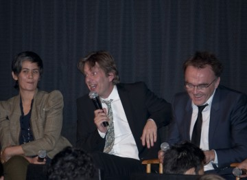 Screenwriter Simon Beaufoy and Director Danny Boyle.