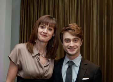 Daniel Radcliffe with BAFTA's CEO, Amanda Berry.