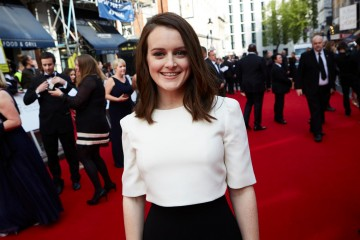 Sophie McShera on the red carpet outside London's Theatre Royal