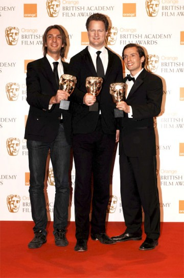 Max Wiedemann, Florian Henckel von Donnersmarck and Quirin Berg collected the BAFTA for Film Not in the English Language for The Lives of Others (pic: BAFTA / Richard Kendal).