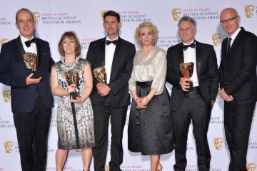 The BAFTA for Features in 2015 was presented by Amanda Abbington to Grand Designs.