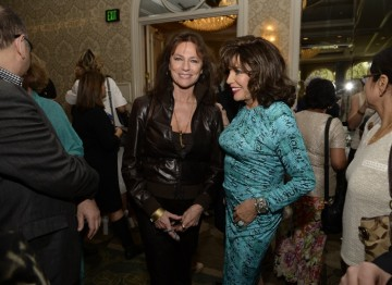 Jaqueline Bisset and Joan Collins