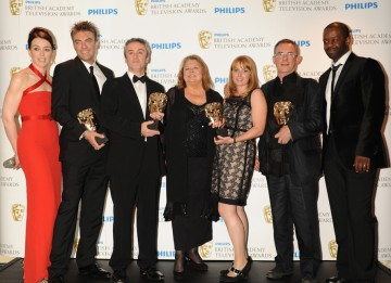 The Road To Coronation Street, which tells the story of the first ever British soap opera, took the Single Drama prize. Kieran Roberts, Charles Sturridge, Rebecca Hodgson, Daran Little and Lynda Barron accepted the award from presenters Olivia Williams an