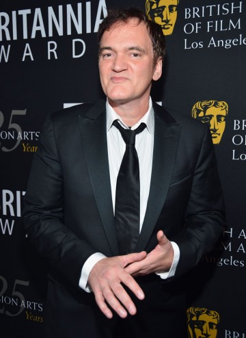 Quentin Tarantino was there to receive the John Schlesinger Britannia Award for Excellence in Directing.