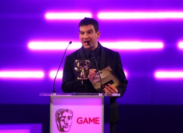 Miles Jacobson of Sports Interactive presents the BAFTA for Sports/Fitness.
