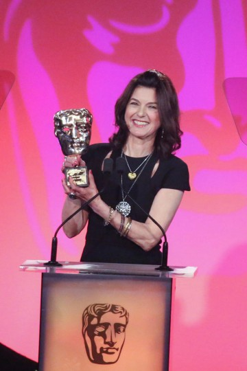 Hilary Briegel accepts the Special Award at the British Academy Television Craft Awards in 2015