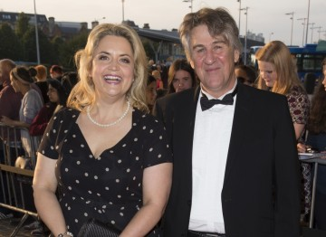 Ruth Jones with husband David Peet