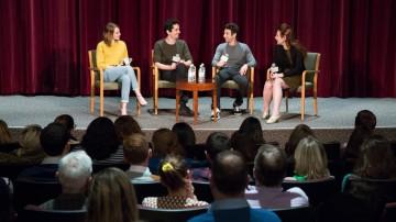 Emma Stone, Damien Chazelle, Justin Hurwitz, Lynn Hirschberg