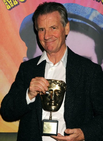 Michael Palin poses with his BAFTA Special Award at the Monty Python Reunion Event in New York on 15 October 2009 (© BAFTA)