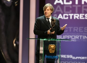 The Award for Supporting Actress was awarded to Rebecca Hall for her role in Red Riding. Julian Jarrod, co-director of the trilogy accepts the Award on Rebecca's behalf. (BAFTA/Steve Butler)