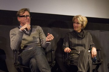 Director John Lee Hancock and Emma Thompson