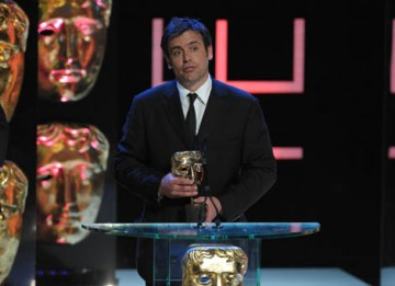 Producer Charles Steel collected the Actress award on behalf of Anna Maxwell Martin who won her second BAFTA in a row, this time for her role as a troubled mental patient in Channel 4's Poppy Shakespeare (BAFTA / Marc Hoberman).
