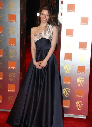 The St Trinian's star also appeared in Inception, nominated for nine BAFTAs including Best Film. Riley's dress is by Ghadah. (Pic: BAFTA/Stephen Butler)