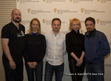 Music Director Clint Mansell, Producer Celine Rattray, Director Jon S. Baird, Producer Trudie Styler and James McAvoy