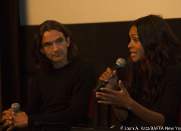 Director Justin Chadwick and Naomie Harris