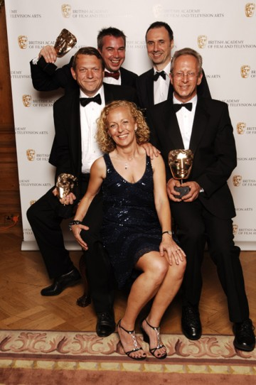 The Sound Fiction/Entertainment Award was collected by Paul Hamblin, Graham Headicar, Andre Schmidt and Peter Brill for their work on Cranford (pic: BAFTA / Richard Kendal).