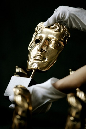 Before presentation at the Academy's Award ceremonies the masks are given a final polish (BAFTA / Marc Hoberman).