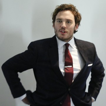 Sam Claflin waits backstage ahead of the EE British Academy Film Awards nominations announcement on 9 January 2015