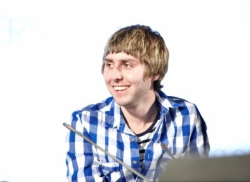 July 18: James Buckley plays the part of Jay in The Inbetweeners (Picture: Jonathan Birch)