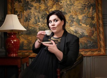 Katy Brand poses for the Television Awards comedy photoshoot in 2010.