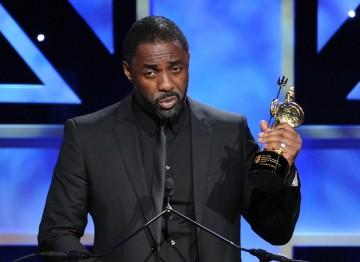 Actor Idris Elba accepts the Britannia Humanitarian Award