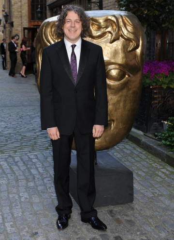 Writer and actor Alan Davies arrives to host the Television Craft Awards ceremony.