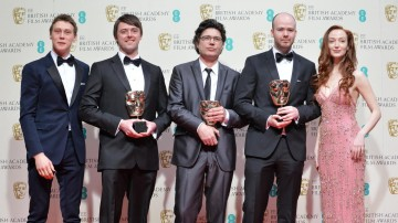 Short Film -  Boogaloo and Graham: George MacKay and Olivia Grant accompany winners Brian J Falconer, Michael Lennox and Ronan Blaney