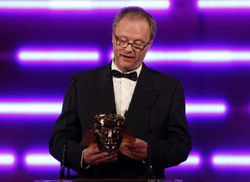 Llewellyn, who recently reprised his role as Kryten in classic comedy Red Dwarf, introduces the Technical Innovation award. (Pic: BAFTA/Brian Ritchie