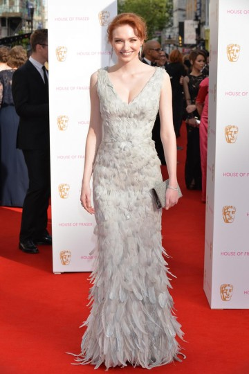 Eleanor Tomlinson looking stunning on the red carpet. Tanning and skin finnishing by St Tropez, hair by Mark Hill