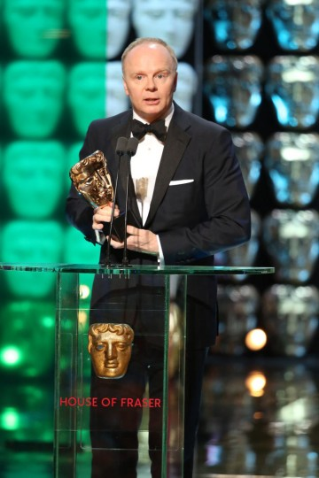 Jason Watkins accepts the award for Leading Actor