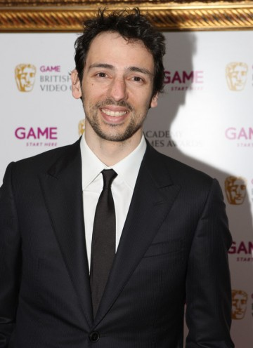 Actor and gaming fan Ralf Little arrives to hand out the Sports Award.