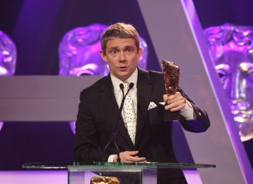 Martin Freeman wins the Supporting Actor award for his role as Watson in Sherlock.