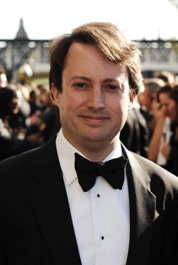Peep Show star David Mitchell arrives on the red carpet hoping to take away a mask in the Comedy Performance category (BAFTA/Richard Kendal).