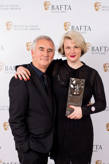 Hope Dickson Leach with citation reader Denis Lawson, Writer Film/Television